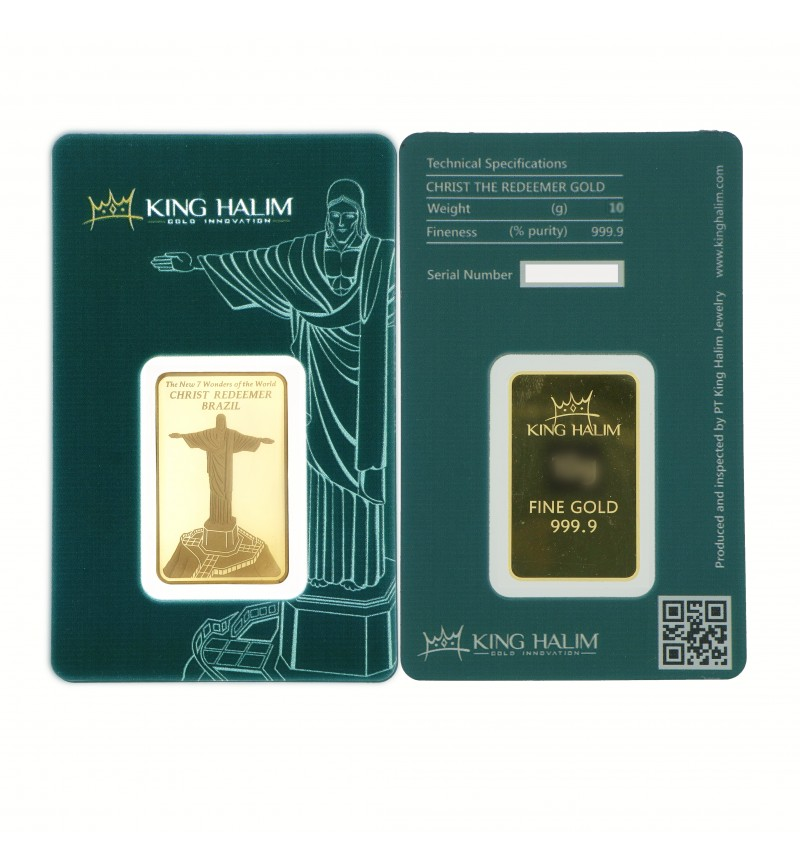 CHRIST THE REDEEMER GOLD BAR