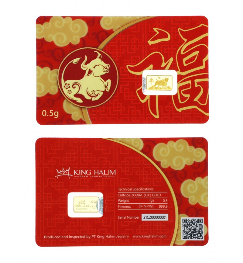GOLD BAR CHINESE ZODIAC